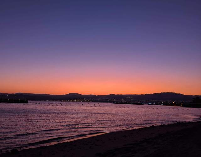 Sunset from a beach in Aqaba