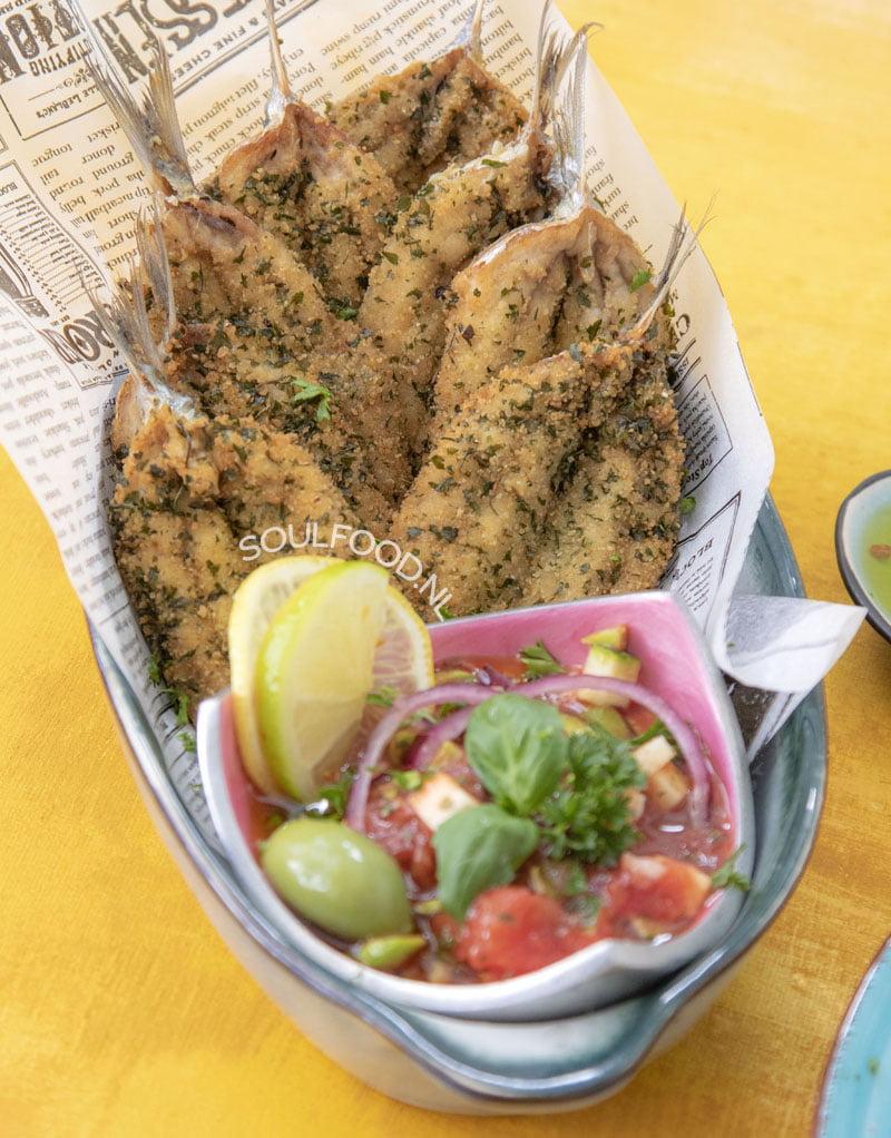 sardientjes sardines gepaneerde en gefrituurde recept