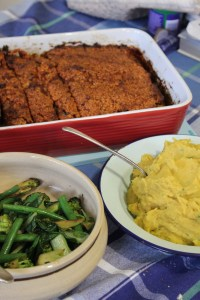 Serve with creamy chive mashed golden kumara, sautéed greens and that stunner of a meatloaf.