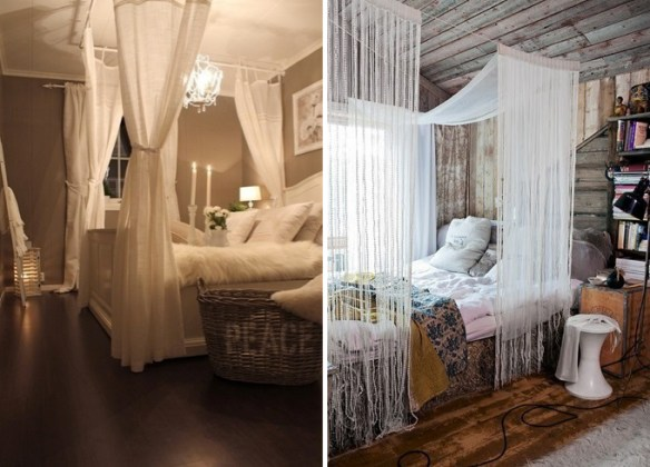 Romantic bedroom is as easy as adding a canopy