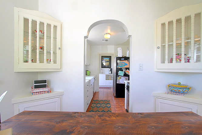 Alcove with original built-ins