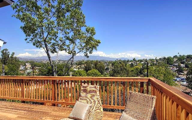 Wraparound deck with unobstructed views