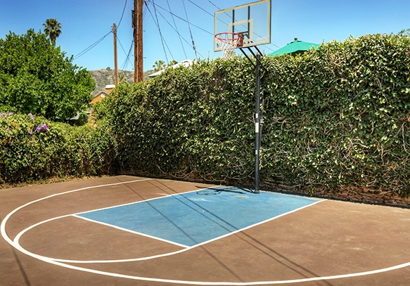 Basketball court. Courtesy of Eugene Ridenour – Berkshire Hathaway