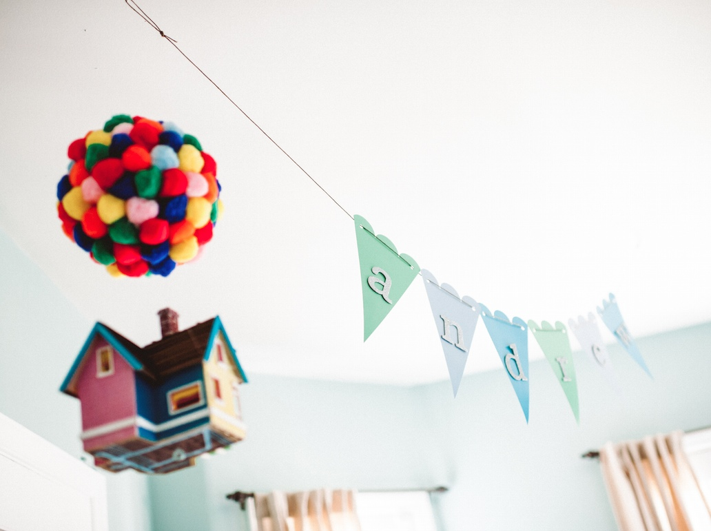 """Our """"Up"""" inspired travel nursery"""
