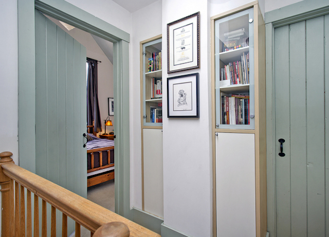 Hallway with built-ins