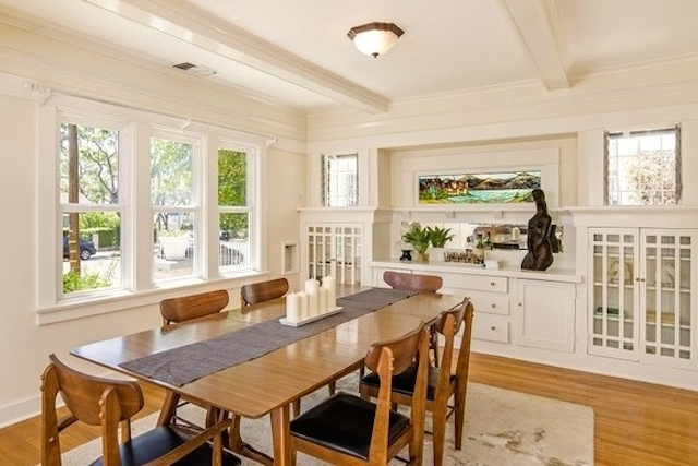 Dining room with gorgeous vintage sideboard