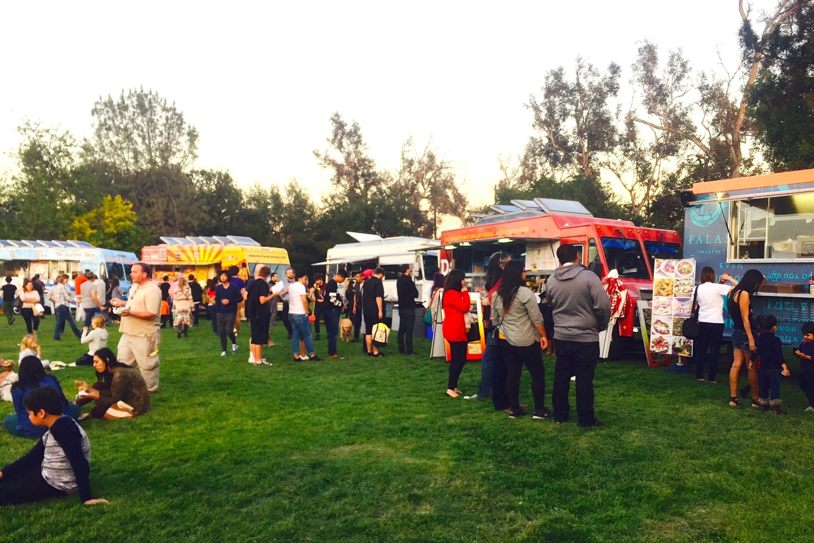 Just a sliver of the nearly 2 dozen food trucks