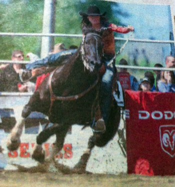 Barrel racing at Cloverdale Rodeo, BC, Canada - taken by Glynn Manyirons, Canada