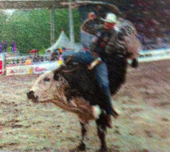 Bull riding at Cloverdale Rodeo, BC, Canada - taken by Glynn Manyirons, Canada