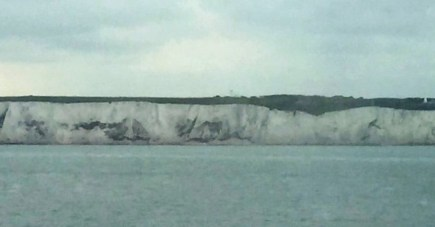 Approaching the White Cliffs of Dover. Taken by Peter Thompson, UK.