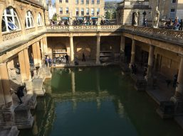 A beautiful Roman bath in Bath, Wiltshire, UK. Taken by Peter Thompson