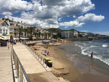 Seafront view of Sitges, Spain. Taken by Ervin Corzo