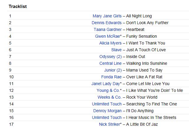 roller boogie tracklist