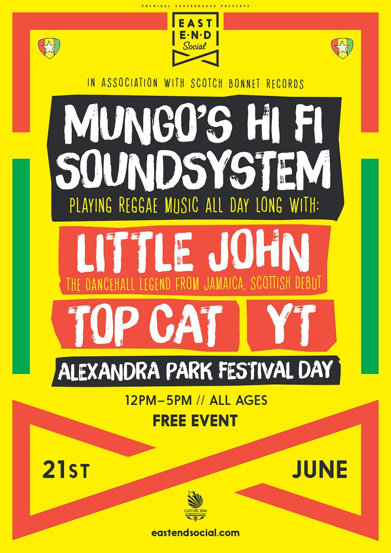 Mungo's Hi Fi Soundsystem ft. Little John, Top Cat & YT at Alexandra Park Glasgow on 21st June 2014