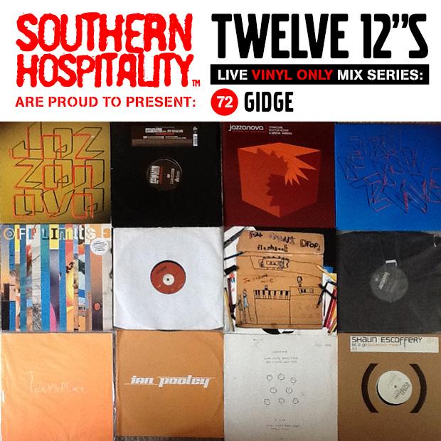 Twelve 12's Live Vinyl Mix 72 - Gidge - Jazzanova special!