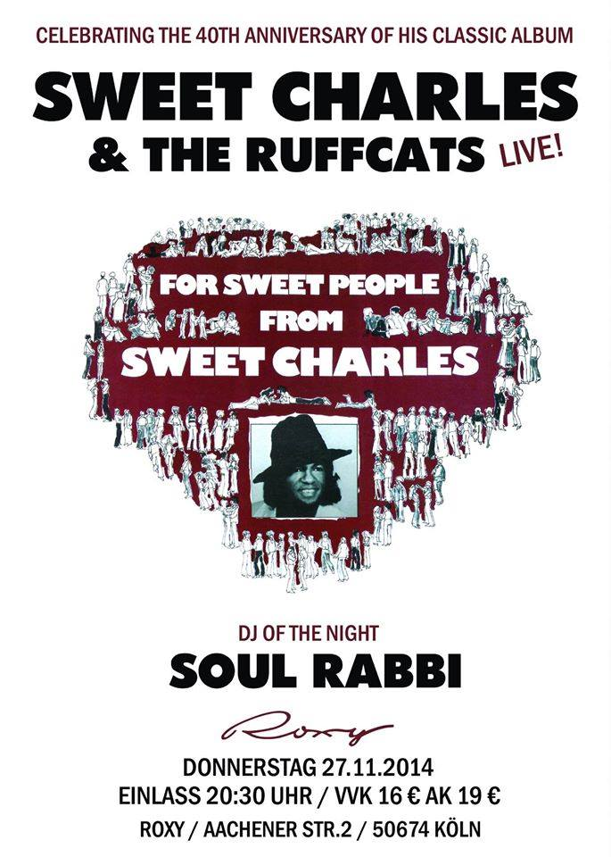 Sweet Charles am 27.11. im Roxy Köln