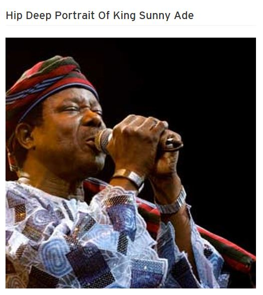 Hip Deep Portrait Of King Sunny Ade