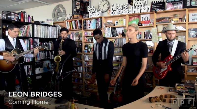 leon bridges tiny desk concert