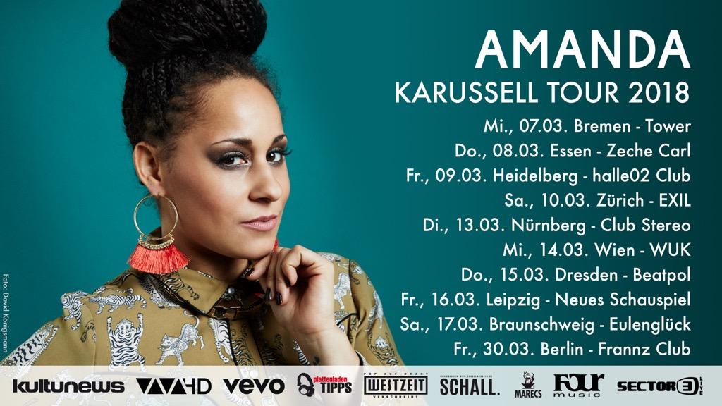 """Amanda – """"Karussell Tour 2018"""" startet im März"""