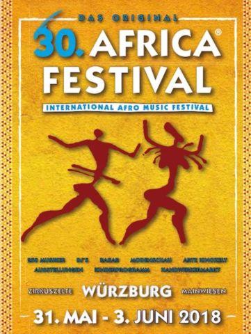 VERANSTALTUNGSTIPP: 30. INTERNATIONAL AFRICA FESTIVAL IN WÜRZBURG VOM 31. MAI BIS 03. JUNI 2018