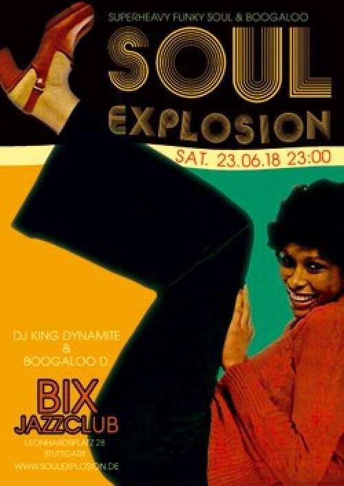 SOUL EXPLOSION am SA 23.06.18 im BIX Jazzclub Stuttgart!
