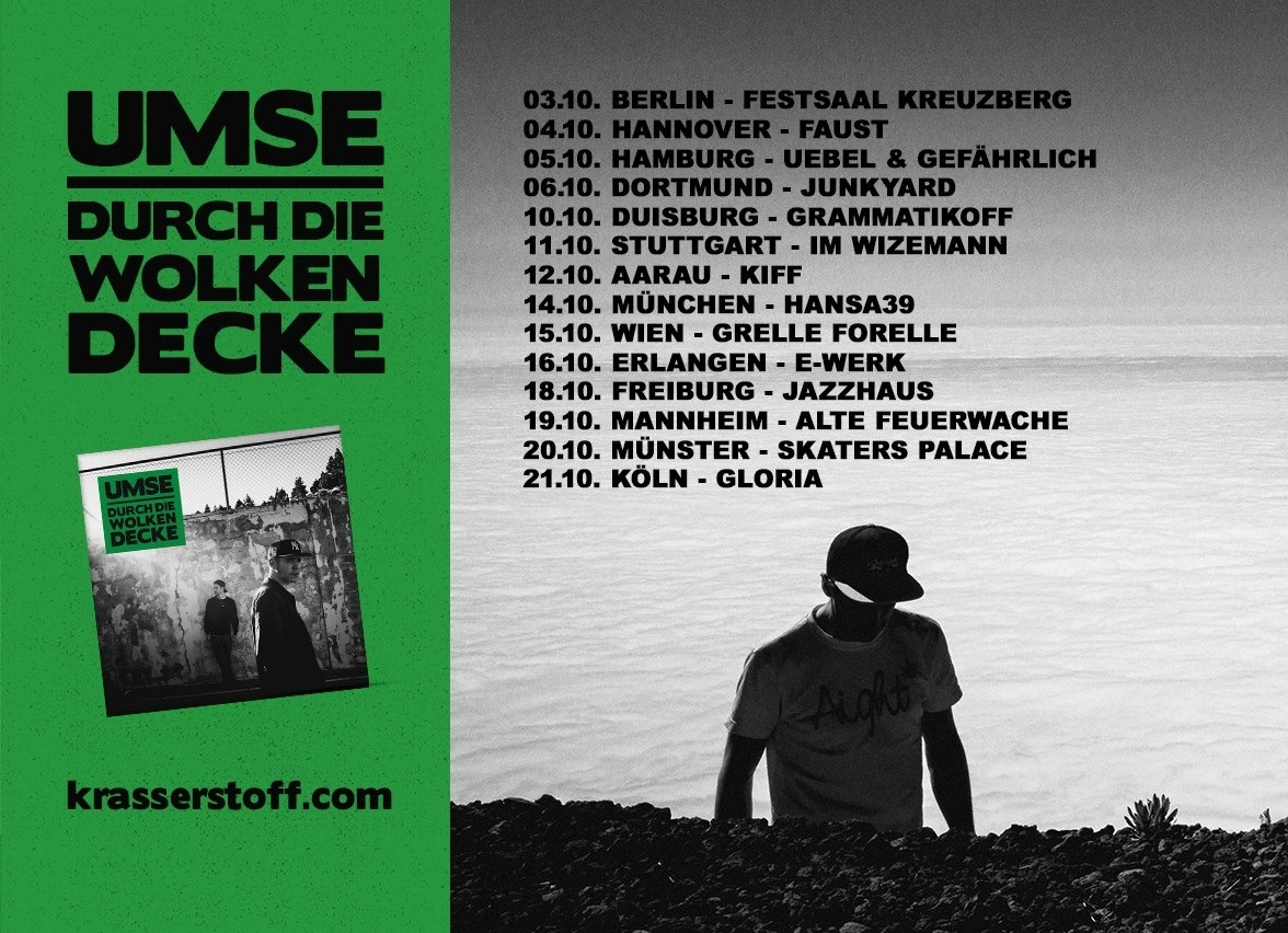 "Happy Releaseday: UMSE geht ""Durch die Wolkendecke"" • 4 Videos + full Album stream + Tourdaten • #ddwd"