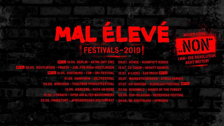 MAL ÉLEVÉ - Non (official Video) + Tourdaten