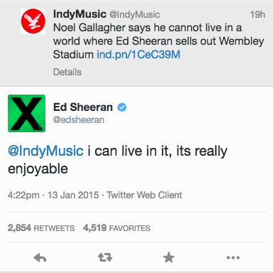 Ed has tweeted