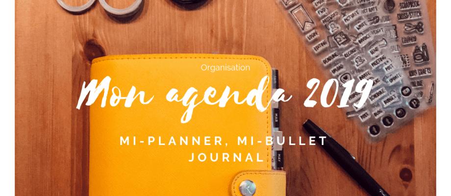 Mon Agenda 2019, mi-planner mi-bullet journal + agenda à imprimer