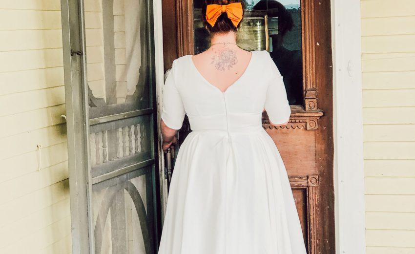 Un petit air d'été en robe blanche