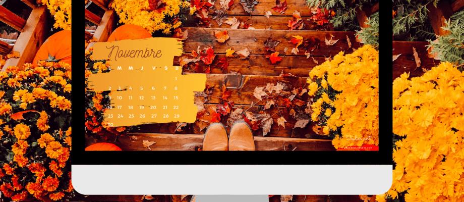 Fond d'écran automne & Kit à imprimer : calendrier, semainier, menus de la semaine…