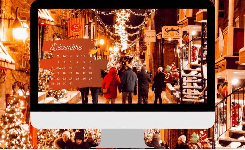 Fond d'écran noël 2020 & Kit à imprimer : calendrier, semainier, menus de la semaine…