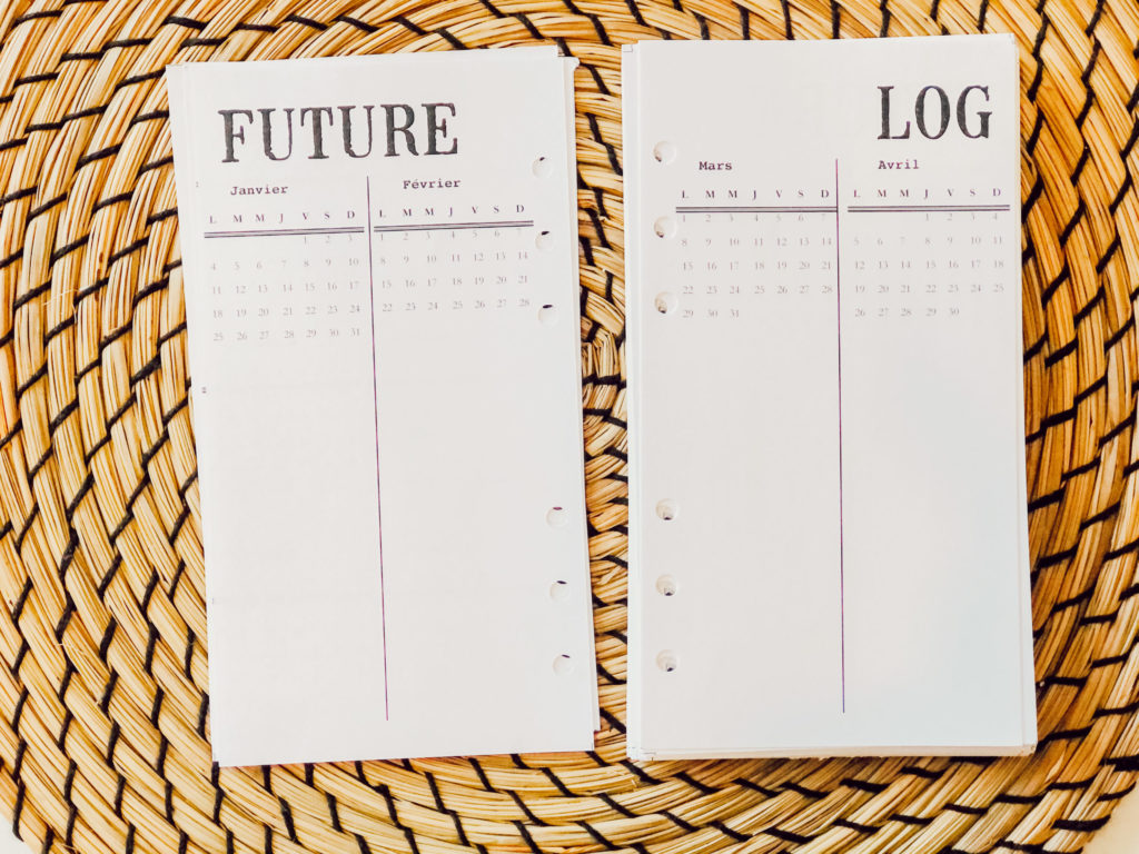 Bullet journal 2021-Future log