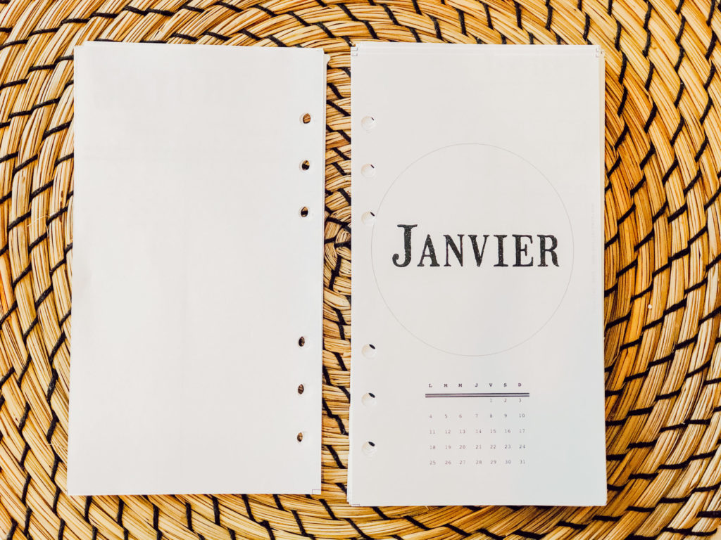 Bullet journal 2021-page mensuelle