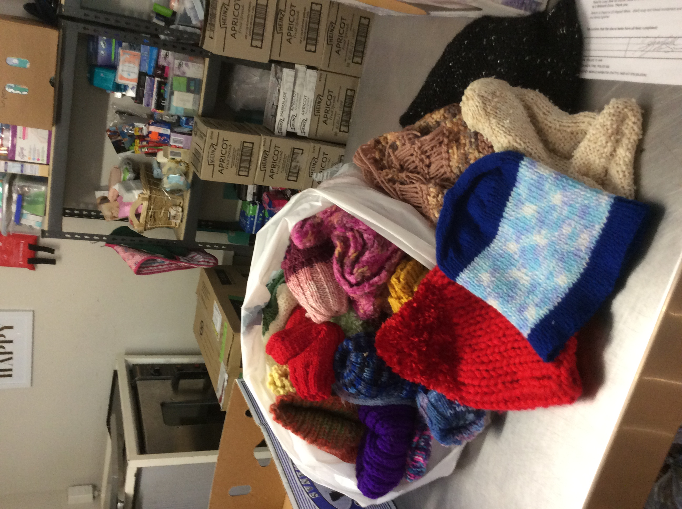 Knitted Beanies, Scarves and Mittens Donation
