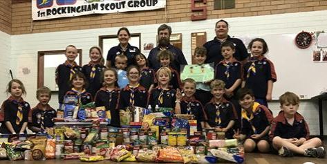 Rockingham Joey Scouts Food Collection
