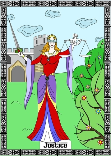 Justice Tarot Card in Soulmate Tarot Readings