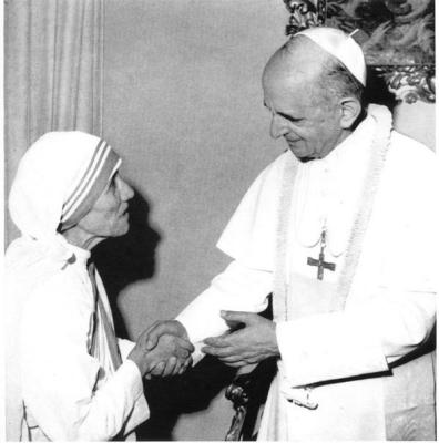 Paul VI meeting with Mother Theresa