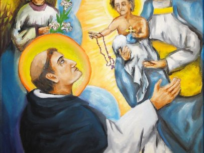 Saint Dominic Guzman and the Rosary [Painting]