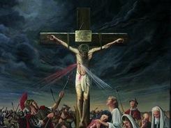 Divine Mercy Crucifixion - Artist Unknown