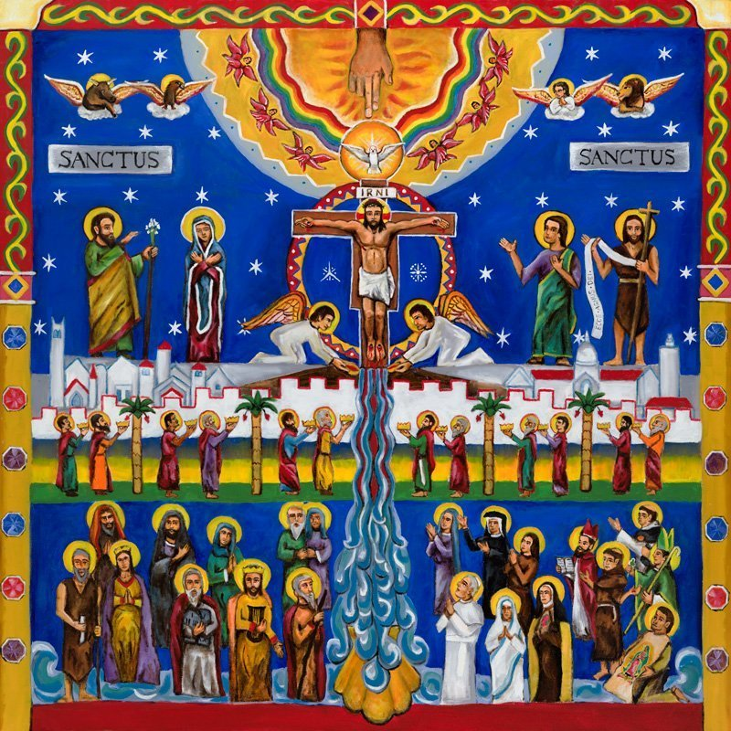 Sanctus Mural [Center Panel]
