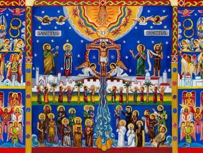 Sanctus Mural Panels [Painting and Explanation]