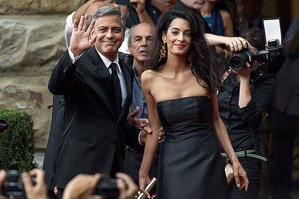Celebrity Fight Night benefiting The Andrea Bocelli Foundation and The Muhammad Ali Parkinson Center - ArrivalsFeaturing: George Clooney,Amal AlamuddinWhere: Florence, ItalyWhen: 07 Sep 2014Credit: SHOTPRESS/WENN.com**Not available for publication
