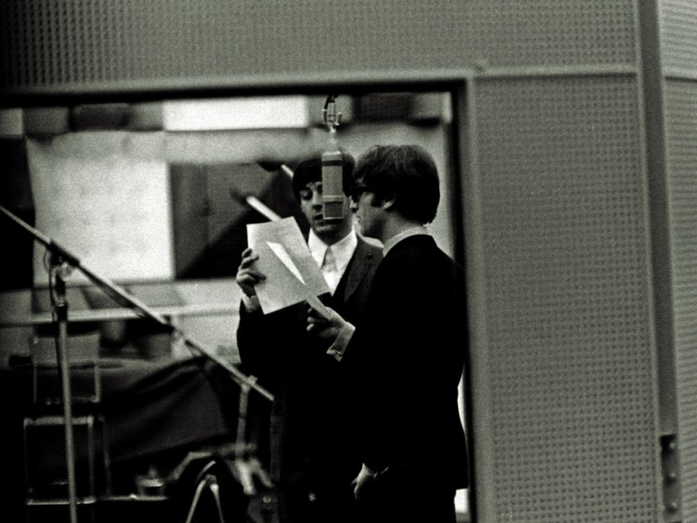 starr-claims-he-was-lucky-to-take-these-shots-but-moments-such-as-this--of-mccartney-and-lennon-recording-vocals--show-his-talented-and-special-eye-for-photography