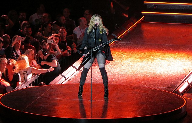 Madonna performs at Rod Laver Arena in Melbourne, Australia during her Rebel Heart Tour on March 12, 2016. Pictured: Madonna Ref: SPL1245158  120316   Picture by: NO BYLINE Splash News and Pictures Los Angeles: 310-821-2666 New York: 212-619-2666 London: 870-934-2666 photodesk@splashnews.com