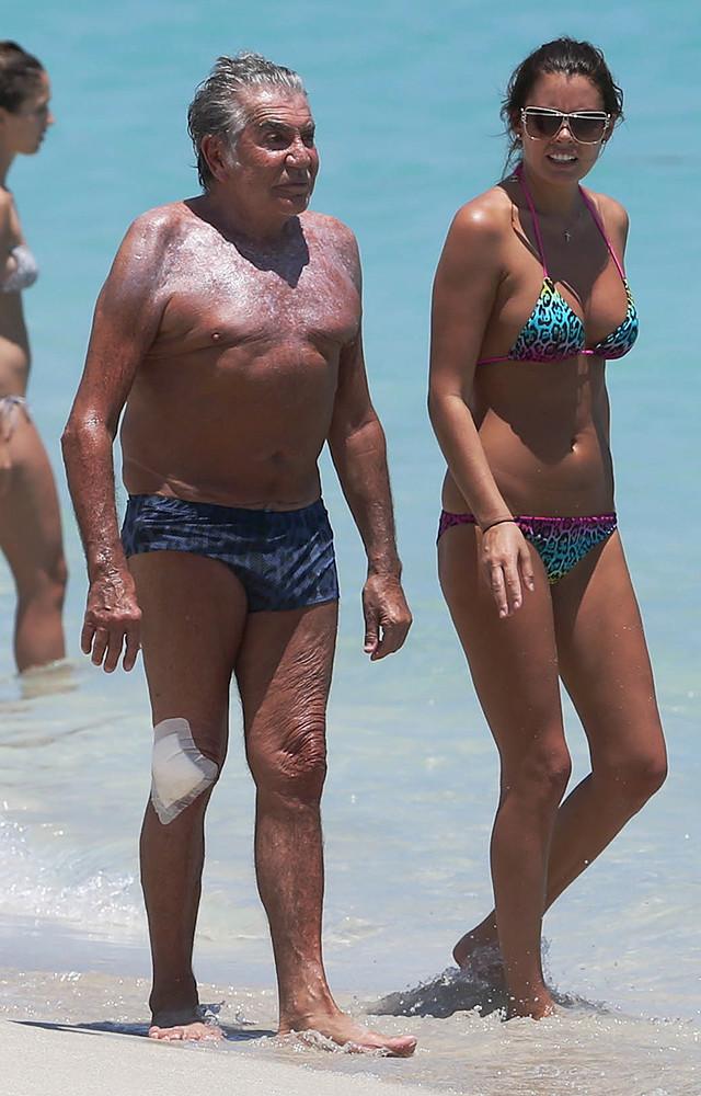 Роберто Кавалли и Лина Нильсон. Разница в возрасте — 47 лет