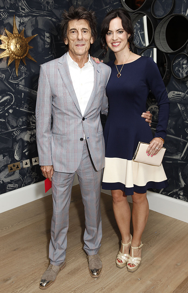 Ронни Вуд и Салли Хамфрис. Разница в возрасте — 31 год
