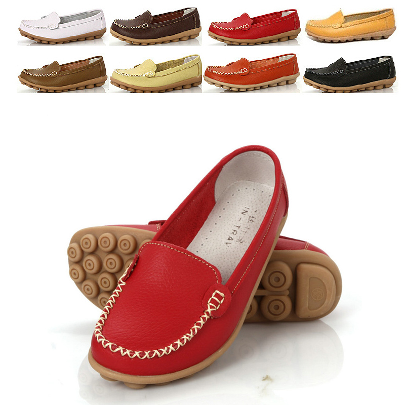 promotions-new-2015-women-font-b-flats-b-font-100-genuine-leather-font-b-shoes-b