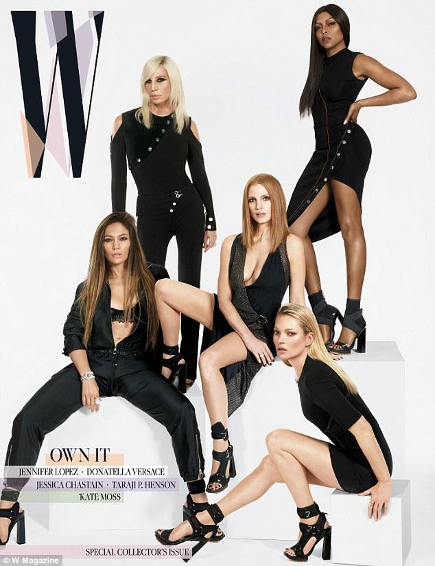Дженнифер вместе с другими героинями номера журнала