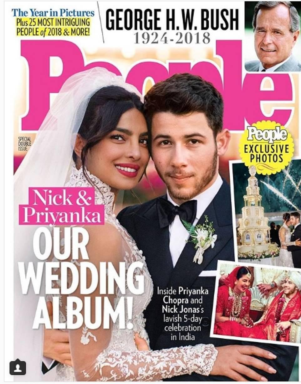Приянка Чопра вышла замуж в платье с 2 миллионами жемчужин и 22-метровой фатой
